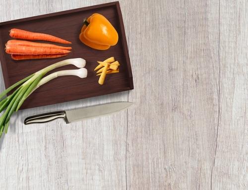 Das orange Küchenmesser